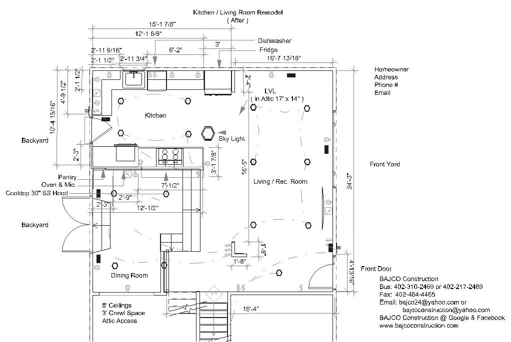 Stu & Denise Essman Kitchen-Living Room(Floor Plan)After