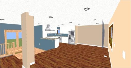 Stu & Denise Essman Kitchen-Living Room(Floor Plan)After3D1color