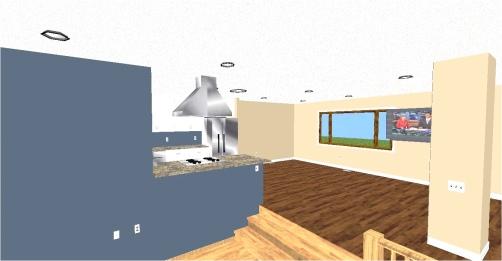 Stu & Denise Essman Kitchen-Living Room(Floor Plan)After3D2color