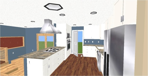 Stu & Denise Essman Kitchen-Living Room(Floor Plan)After3D3color